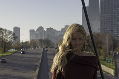 15 (aerojad) Tags: portrait portraiture portraiturephotography model models people postthepeople autumn fall lsd lakeshoredrive skyline woman women