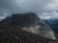 Mt. Birdwood's head in the clouds (David R. Crowe) Tags: landscape mountain nature outdooractivities scrambling kananaskis alberta canada