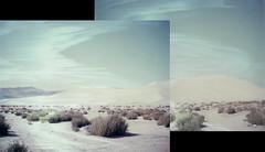 sand mtn (lawatt) Tags: sand dune sandmtn desert nevada film polaroid 669 automatic250 roidweek2016 diptych