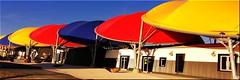 Giant Umbrellas (Perkriz) Tags: roof colours buildings larochelle france perkriz