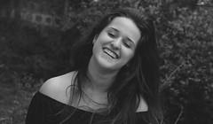 Leve (ARTE - MARK) Tags: girl vsco tumblr dramatic drama art dslr canon nikon laugh smile natural light blackandwhite brazil beauty black blackonblack portrait