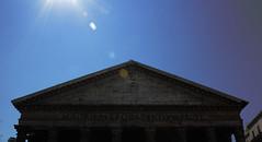 Pantheon (magic penguin ^^) Tags: pantheon panteon panteo piazza della rotonda plaza plaa roma rome italy italia sun sol reflexes