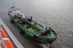 Bahia Tres 5 (PhillMono) Tags: ship boat vessel lisbon portugal harbour dock storm bahia tres tanker bow