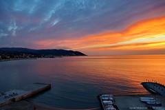 Diano Marina    Golfo e Palme (DirkVandeVelde back) Tags: europa europ europe italy italie dianomarina imperia sunset antardecer zonsondergang ligura liguria bloemenriviera