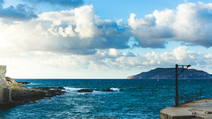 Levanzo in the distance (Nicola Pezzoli) Tags: favignana sicilia sicily island egadi summer sea water colors nature canon tourism waves sunset clouds blue sky levanzo florio stabilimento