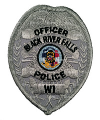 Black River Falls Police Badge Patch (Nate_892) Tags: black river falls police badge patch sheriff wi wisconsin