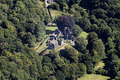 Aerial view of Okehampton Castle in Devon (John D F) Tags: englishheritage castle medieval norman okehampton aerial devon aerialphotography aerialimage aerialphotograph aerialimagesuk aerialview britainfromabove britainfromtheair droneview