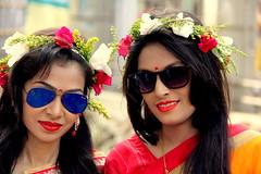 ~Bangla new year festival~ (~~ASIF~~) Tags: canon60d portrait groupshot costume people flower bouquet plant colorful smile happy face closeup event bangladesh