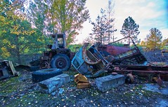 Vehicle Dump-(Chernobyl Exclusion Zone)_5 (Landie_Man) Tags: none vehicle car truck van tank minesweeper lorry radioactive radiation clean up liquidator liquidation chernobyl heros heroes pripyat scrap scrapped junk dumped transport transportation the zone exclusion ussr ccp cccp soviet union ukraine metal harvesting trash dead looted
