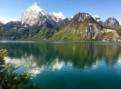 Switzerland (claudiool) Tags: rock horizon riflessi reflexes mountains lake svizzera switzerland paesaggio landscape natura nature calma pace alpi alps boschi forests woods
