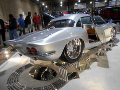 "1962 Chevy Corvette ""Illusions"" (splattergraphics) Tags: 1962 chevy corvette illusions c1 customcar carshow eastcoastindoornationals marylandstatefairgrounds timoniummd"