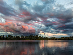 End of Summer Sky (rowjimmy76) Tags: sky sunset pink willametteriver oregon portland pdx pnw pacificnorthwest landscape rossisland nature outdoors canon s100