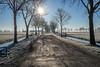 Winter road (Jazzmatica) Tags: frost frozen road winter december zwammerdam sun morning superb thony thonydebruin holland koud fujifilmxf fujixe1 fujinon23mm 14 jpg