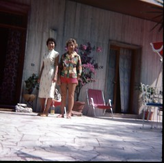 img312 (foundin_a_attic) Tags: 1970s glass slide 77 70s fashion women hotel