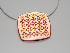 Pendant Kaleidoscope (ST-Art-Clay) Tags: polymer clay kaleidoskope quilt pattern