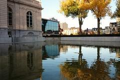 Musée La Boverie (Liège 2016) (LiveFromLiege) Tags: liège architecture musée boverie liege luik lüttich liegi lieja reflection reflet