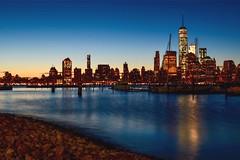 Early Morning Blues (Lojones13) Tags: morning newyork worldtradecenter bluehour twilight