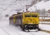 Pareja de 269 aisladas por Pancorbo camino de Villafría. (ordunte) Tags: pancorbo renfe 269 mitsubishi mitsubishi269 snow nieve líneamadridirún burgos castilla
