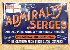 Vitreous Enamel Signage (Terry Pinnegar Photography) Tags: sign advertisement vintage vitreous enamel metal edwardian antique serge cloth admiraltyserges wool