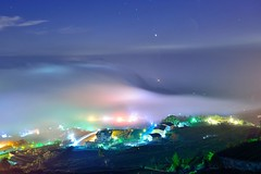 Clouds flowing at tea field  (Vincent_Ting) Tags:             taiwan jiayi alisan formosa clouds sunset sky teafield seaofclouds    crepuscularrays vincentting