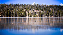 Lily Lake (Swilso37) Tags: wyoming bighorns buffalowy frozen reflection mirror nikon
