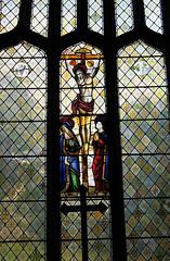 More medieval stained glass, Llanasa (Richard Holland) Tags: church crucifixion medieval flintshire llanasa