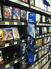 Star Wars Blu-Ray banner (splinky9000) Tags: pembroke ontario wal mart star wars blu ray banner darth vader dvd aisle aristocats arthur christmas big bang theory scooby doo amazing spider man