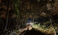 The Explorer (Rob Pitt) Tags: rivacrevalley cheshire wirral ellesmereport lightpainting silhouette tokina 1116