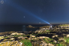 Saturne watches the moon set... and me too !!! (Grgory Dolivet) Tags: nuit night star saturne lune moon flickr nikon d750 nightshot etoile wildcoast cotesauvage bretagne light lumire mer sea seascape rock rocher lecroisic bzh selfie elitephotography water poselongue flickrdepot mordudephoto greatphotographer flickrunitedaward wow