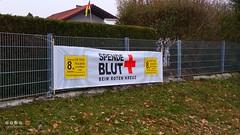 """Schilder > Hinweisschild  """"Spende Blut"""" (warata) Tags: 2016 deutschland germany schilder signs"""