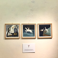 One of my works in the exhibition illustrations for Fifth night of Ten nights of dreams (mhasegawa165) Tags: picturebook novel tennightsofdreams watercolour illustration