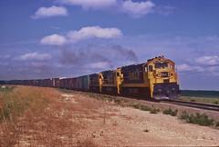 Santa Fe #308 leaving Aikman, Kansas. (Wheatking2011) Tags: santafe308aikmankansasoldchelseagovernmentbuiltalakelinechangedseptember2 1973