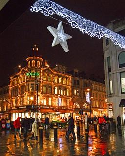 Christmas lights in Newcastle upon Tyne