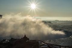 Niagara Falls in Color and Black & White (SugarHillsPhoto) Tags: marriott sunrise niagarafalls waterfall sunburst
