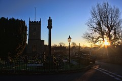Dawn Rays at Trull. Explored (Rosemarie.s.w) Tags: morning winter light sunrise dawn somerset taunton trull