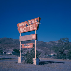 minn-iowa x-pro. barstow, ca. 2014. (eyetwist) Tags: california orange 6 west abandoned 120 6x6 mamiya film sign analog america mediumformat square landscape typography xpro crossprocessed peeling cross desert crossprocess empty rusty motel icon iowa ishootfilm faded ii american chemistry highdesert 400 mojave transparency type americana medium format analogue roadside mamiya6 agfa barren vacancy processed e6 minn mojavedesert 58 barstow emulsion optima 75mm primes agfacolor c41e6 eyetwist 6mf mamiya6mf theicon f35l oldhighway58 agfaoptimaii400 epsonv750pro recentlyprocessedfilm minniowa filmexif filmtagger eyetwistkevinballuff mamiya75mmf35l crossprocessedc41toe6