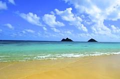 Lanikai Beach on Oahu - Hawaiian Islands (MNTravelingMan84) Tags: ocean beach nature beautiful beauty island hawaii islands colorful paradise pacific oahu hawaiian lanikai clearbluewater hawaiianislands hawaiianparadis