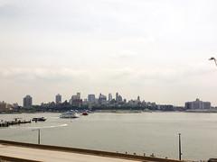 Brooklyn Heights over the Lower East River (molybdena) Tags: newyorkcity newyork brooklyn manhattan eastriver lowermanhattan adjcontrast adjstraighten adjwhitebalance adjshadows adjhighlights molybdena