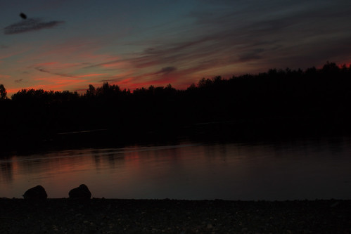 Sunset over Needham Lake