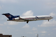 N495AJ landing at MIA (up9711) Tags: plane airplane aviation mia boeing 727 trijet b727 722 kmia 727f amerjet