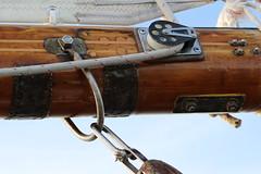 Boom on a Sail Boat (Carol Miller/The Curious Photographer) Tags: sailboat sails boom mast nautical pulley newportri carolmiller nauticaltheme curiousphotographer