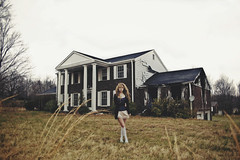 (yyellowbird) Tags: house selfportrait abandoned girl fire tennessee cari
