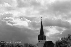 Church (my14all) Tags: church landscape blackwhite kirche schwarzweis wolkenlandschaft