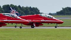 BAe Hawk T1A - 2 (NickJ 1972) Tags: hawk aviation airshow bae redarrows raf t1 waddington 2014 britishaerospace xx278