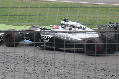 Kevin Magnussen in the 2014 German Grand Prix