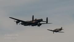 DSC09946          Avro Lancaster  and Hurricane BBMF (davyskin46) Tags: aircraft sony hurricane slt sunderland a57 avrolancaster bbmf sunderlandinternationalairshow tamronspaf70300mmf456diusdlens