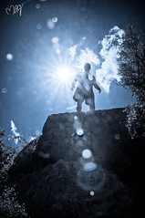 Hardship often prepares an ordinary person for an extraordinary destiny. (Missie Ann) Tags: sea sun silhouette turkey climb ruins mediterranean hiking hike mediterraneansea nikond90