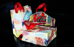 Gift bags made by my dearest friend (ChandrahaasCreation) Tags: lighting camera blue light red 3 black color love colors beautiful beauty look contrast digital dark bag lens lights design daylight cool colorful day different close bright mini cannon packet lovely dslr decorate friendhip dhakacity