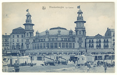 Blankenberghe, le Casino- vintage postcard (Rescued by Rover) Tags: brussels beach vintage postcard bruxelles casino huts cp ernest postale thill carte blankenberghe