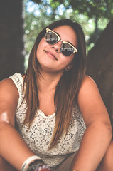Posing (Like a Rolling Stones) Tags: light italy slr sunglasses nose glasses nikon bokeh smooth meadow naturallight full casio tiny frame bracelets nikkor dslr fx cinematic midday puglia lecce giulia dx negramaro apsc nikkor35mm18g nikond5100